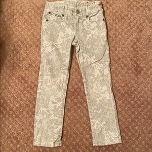 Girls patterned jeans